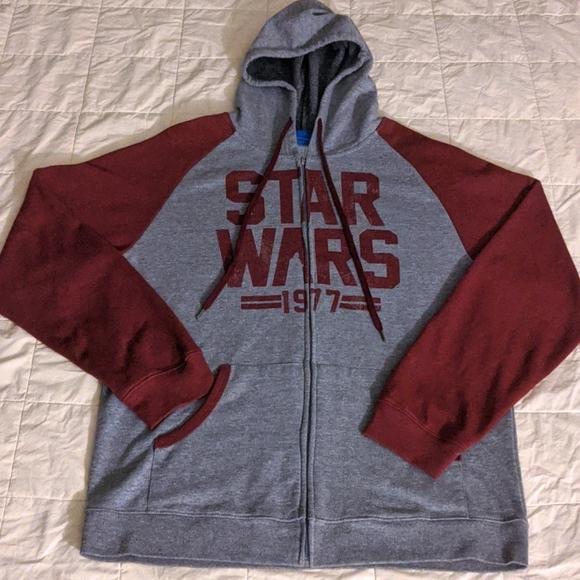 Star Wars zip up hoodie